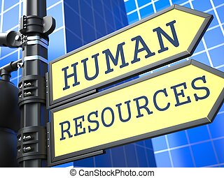 Human Resources Business Concept - Human Resources Words on...
