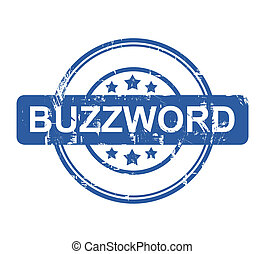 Buzzword business stamp with stars isolated on a white...