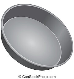 Round Cake Pan - Round pan for baking cakes. Vector...