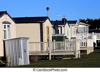Caravans on trailer park