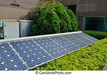 Solar cells were installed on the home