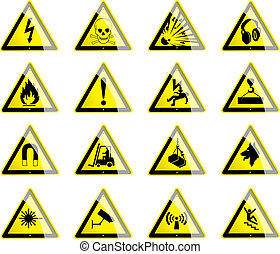 Hazard Symbols - Symbols displaying hazard and danger signs