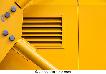 Machine Part - Yellow Metal Machine Part for background