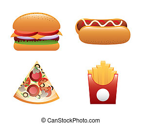 fast food design over white background vector illustration