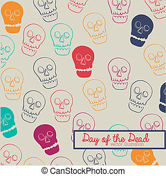 day of the dead over beige background vector illustration