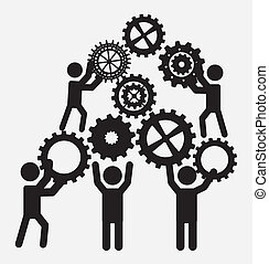teamwork design  over white background vector illustration