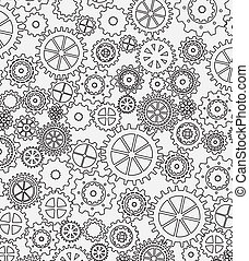 gears design - gears skin over white background vector...
