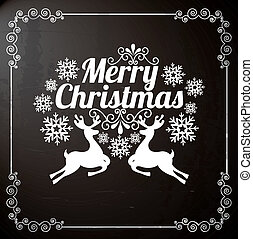 merry christmas over black background vector illustration...