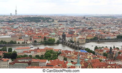 Charles Bridge View from the tower of Saint Vitus Cathedral...