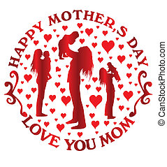 happy mothers day vector art