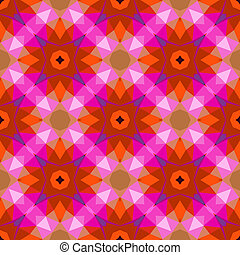 Pattern with geometric shapes in style 1970.