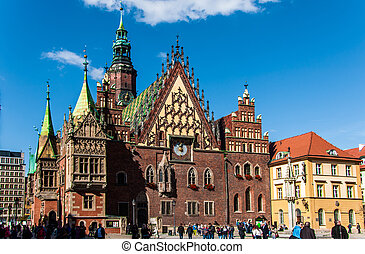 Old town in the city of Wroclaw - Wonderful city of Wroclaw