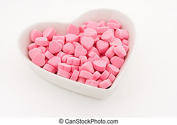 Pink Heart Shape Candy close up