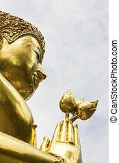 Buddha image at Wat Pa Dara Phirom, Chiang Mai Thailand - A...