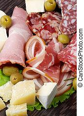 Delicatessen Cold Cuts - Heap of Delicatessen Cold Cuts with...