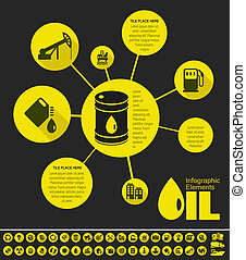 Oil Industry Infographic Template - Oil Industry Infographic...