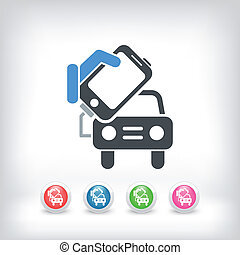 Connection of smartphone to car
