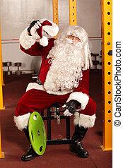 Santa Claus break in training