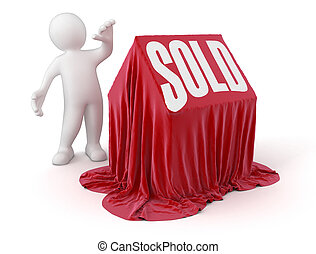 Man and sold house - Man and sold House Image with clipping...