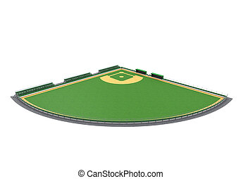Baseball Field Isolated on white background 3D render