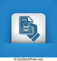 Infected file icon