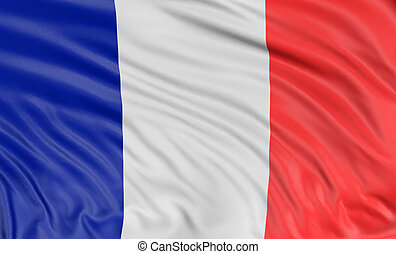 3D French flag - 3D French Flag with fabric surface texture....
