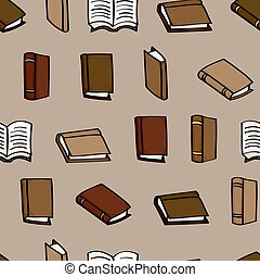 Cartoon Books Seamless Background - Seamless background tile...