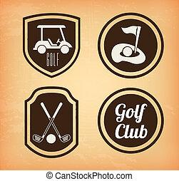 golf icons over beige  background vector illustration