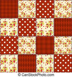 Patchwork autumn pattern 3.