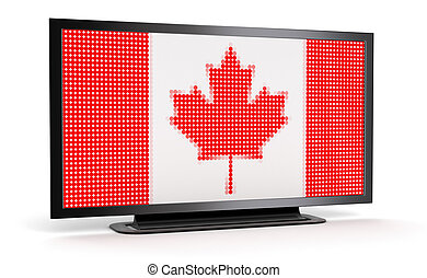 TV with Canada Flag