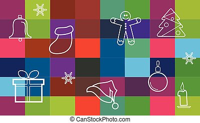 collection of different christmas items, christmas background