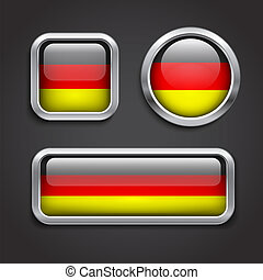 Germany  flag glass buttons