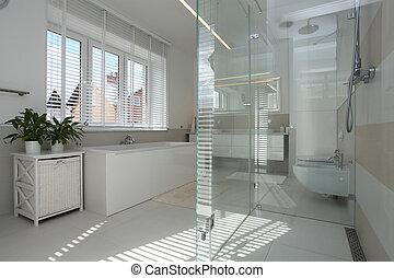 moderno, cuarto de baño
