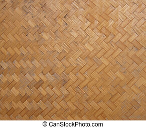Weave pattern of bamboo texture background.
