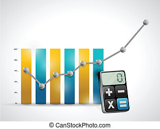 calculating business concept illustration design over a...