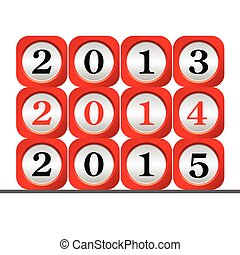 dial 2015 color vector illustration