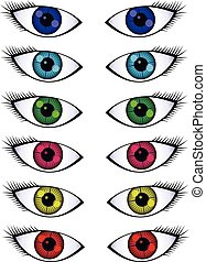 Colorful Beautiful Eyes