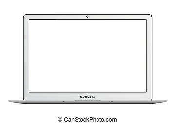 MacBook Air - Apple MacBook Air vector illustration eps 10