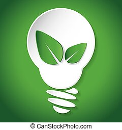 Think green save earth - vector illustration of Think green...