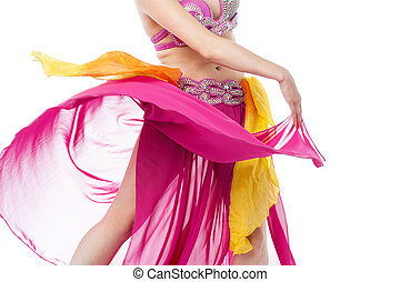 Cropped image of young female belly dancer - Female belly...