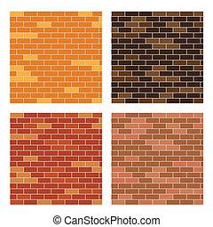 brick wall background set