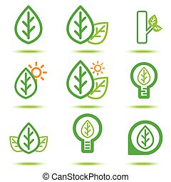 green lcon - Vector illustration of green icon