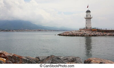 lighthouse in Alanya Turkey