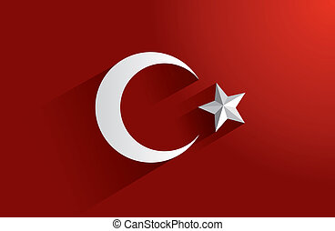Flag of Turkey - Creative Abstract Flag of Turkey Backgroung