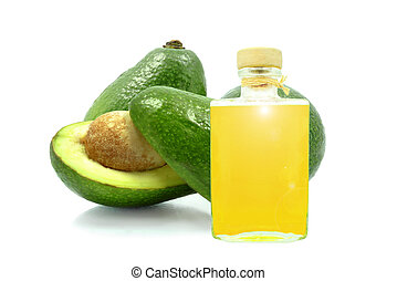 avocado oil on a white background