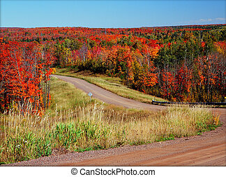 {Scenic Autumn Crossroads} - Featuring one of the scenic...
