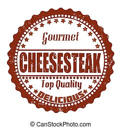 Cheesesteak stamp - Cheesesteak grunge rubber stamp on...
