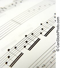 Sheet Music - Closeup of simple music score
