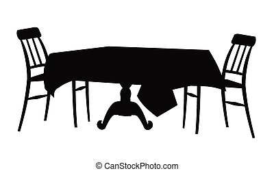 table and chair silhouettte