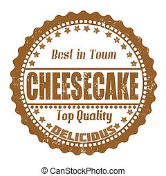 Cheesecake stamp - Cheesecake grunge rubber stamp on white,...